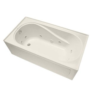 """Mirabelle MIRPRT6032L Provincetown 60"""" X 32"""" Three-Wall Alcove Total Massage Tub with Left Hand Drain"""