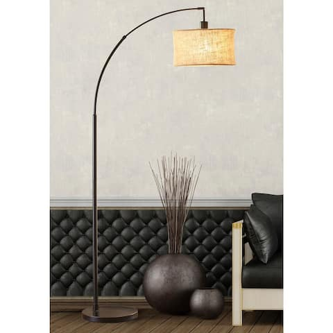 Carson Carrington Ylserod Antique Bronze Arc Floor Lamp