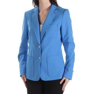 Tommy Hilfiger NEW Blue Pacific Women's 8 Two-Button Blazer Jacket