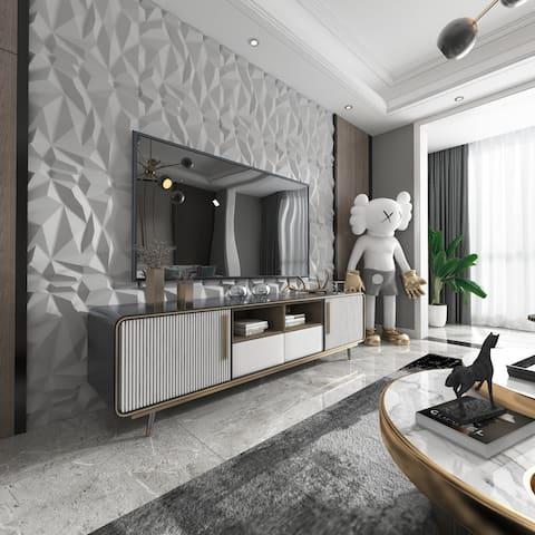 Art3d 3D Wall Panels PVC Jagged Diamond Design (32 Sq.Ft)