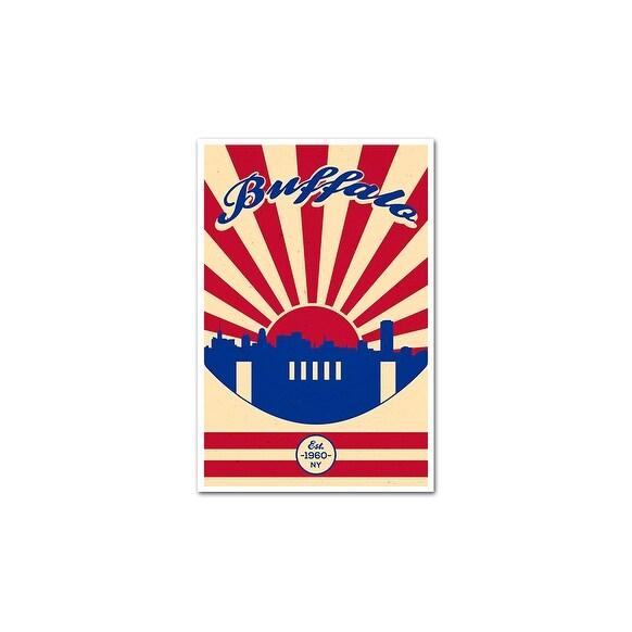 Buffalo Bills Vintage Football Matte Poster 16x24