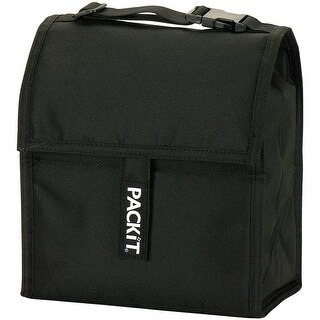 PackIt PKT-PC-BLA Freezable Soft-Sided Lunch Bag, Black