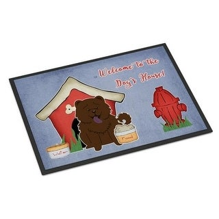 Carolines Treasures BB2895JMAT Dog House Collection Chow Chow Chocolate Indoor or Outdoor Mat 24 x 0.25 x 36 in.
