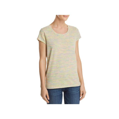 French Connection Womens T-Shirt Linen Blend Striped