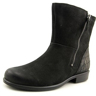 Ecco Touch 35 Women Round Toe Leather Black Ankle Boot