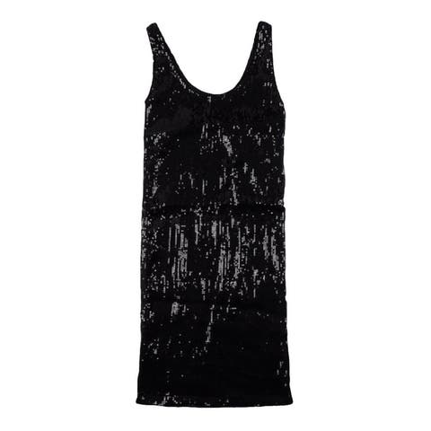 Ecko Unltd. Womens Sequins Tank Pencil Dress