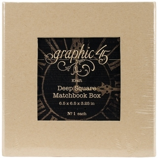 """Graphic 45 Staples Deep Matchbook Box-6""""X6""""X3"""""""