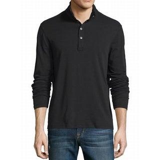 Michael Kors NEW Black Mens Size Medium M Henley Mock Neck Shirt