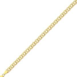 MCS JEWELRY INC 10 KARAT YELLOW GOLD ROUND LINK CHARM BRACELET