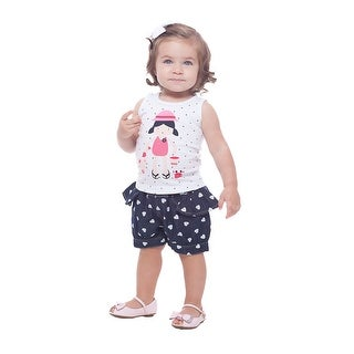 Pulla Bulla Baby Girl Outfit Sleeveless Shirt and Denim Skorts Dress Set for 3-12 Months