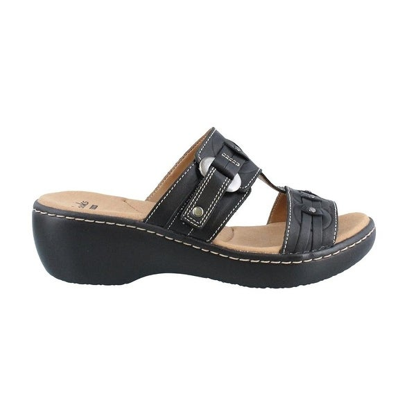 759c821e59c31 Clarks Women's Delana Macrae Black Sandal