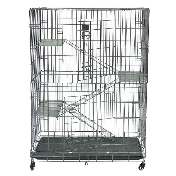 Folding Collapsible Pet Cat Wire Cage Indoor Outdoor Playpen Vacation. Opens flyout.