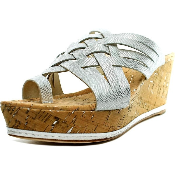 Donald J Pliner Flore Open Toe Leather Wedge Sandal