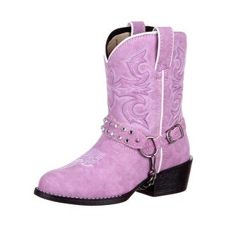 Durango Western Boots Girls Lil Kid Bling Harness Lavender