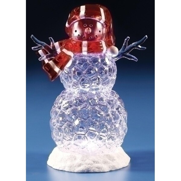 "10"" LED Icy Snowman Christmas Table Top Figurine"