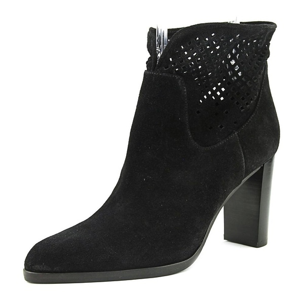 Diane Von Furstenberg Jaen Women Pointed Toe Suede Black Ankle Boot