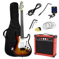 LyxPro Electric Guitar with 20w Amp Package and Accessories