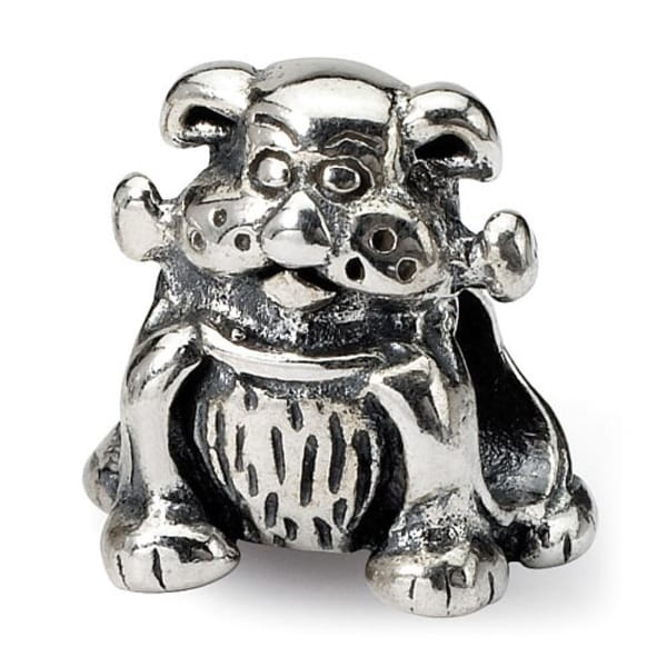 Sterling Silver Reflections Dog with Bone Bead (4mm Diameter Hole)