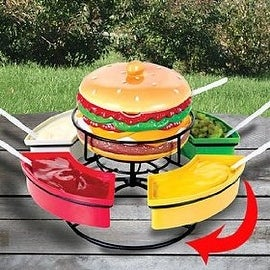 Revolving Burger Condiment Caddy