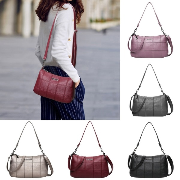 ef7cbc16c10 Woman Tote Casual Bags Crossbody Bag Women Leather Handbag Shoulder Bag