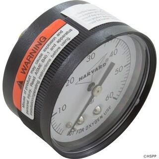 """Pressure Gauge, 1/4""""mpt, 0-60psi, Back Mount, Generic"""