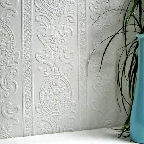 Brewster 437-RD750 Louisa Paintable Textured Vinyl Wallpaper - N/A