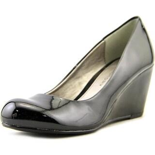 CL By Laundry Nima W Open Toe Synthetic Wedge Heel