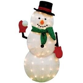 """Product Works 70044_L2D Pre-Lit 2D Snowman, 32"""""""