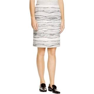 Hugo Boss Womens Vanida Pencil Skirt Wool Striped