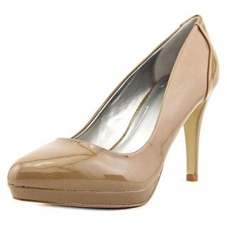 Tahari Party Women  Round Toe Patent Leather Tan Heels