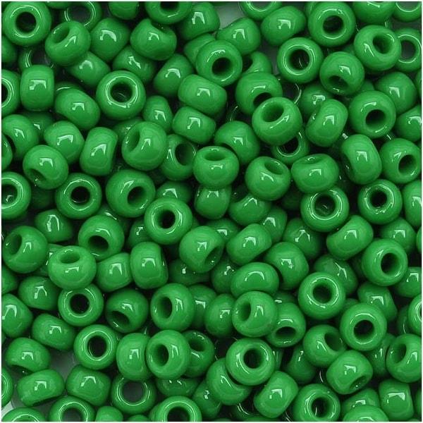 Toho Round Seed Beads 8/0 47D 'Opaque Shamrock' 8 Gram Tube