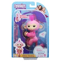 WowWee Fingerlings Interactive Baby Monkey Toy: Rose (Pink Glitter) - multi