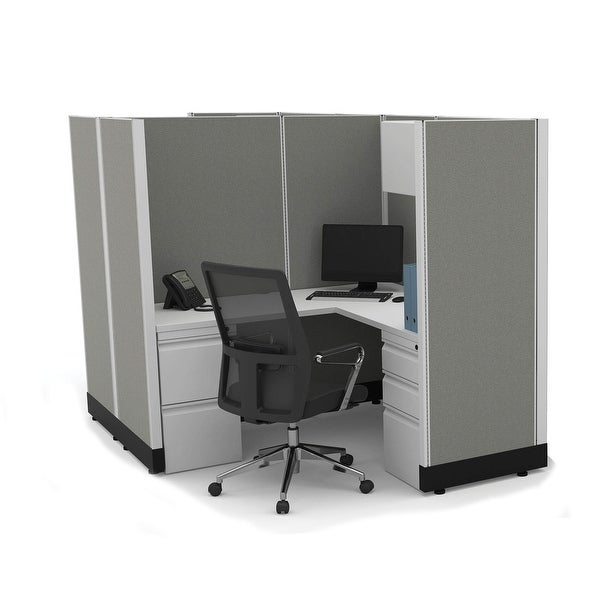 Modular Office Desk Furniture 67H 2pack Cluster Powered. Opens flyout.