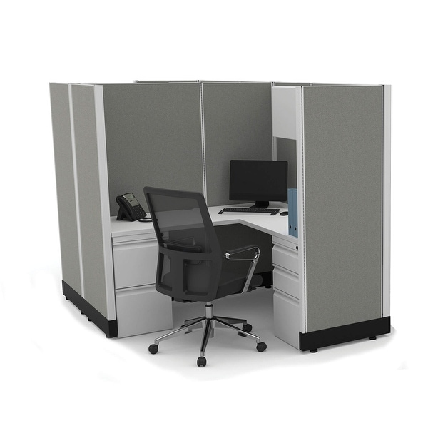 Modular Office Desk Furniture 67H 2pack Cluster Unpowered. Opens flyout.