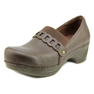 Sanita Daisy- Dania Women Round Toe Leather Brown Clogs