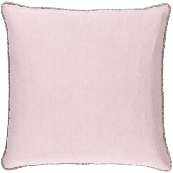 "18"" Purpling Dawn Purple Elegant Rose Blossom Decorative Throw Pillow- Down Filler"