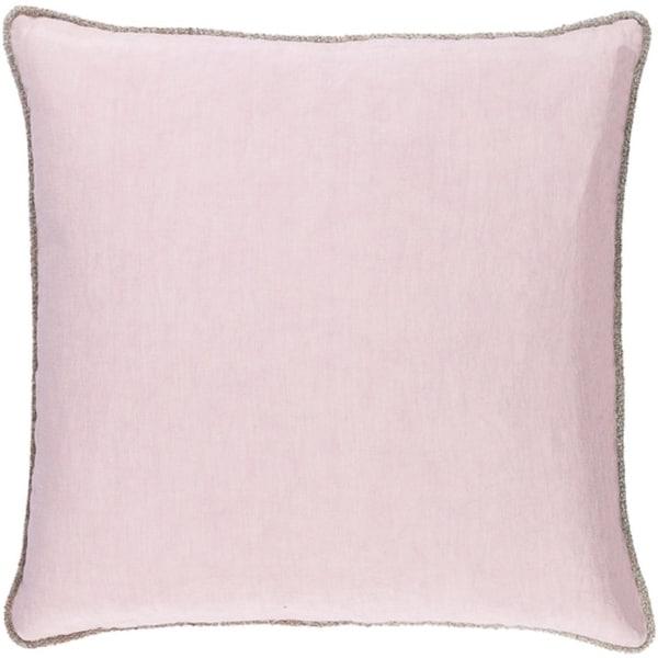 "22"" Purpling Dawn Purple Elegant Blossom Decorative Linen Throw Pillow"