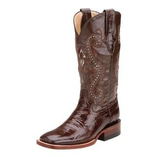Ferrini Western Boots Womens Gator Exotic Cowboy Chocolate 90793-09