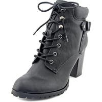 Style & Co. Womens Style & Co. Caitlin Almond Toe Ankle Combat Boots