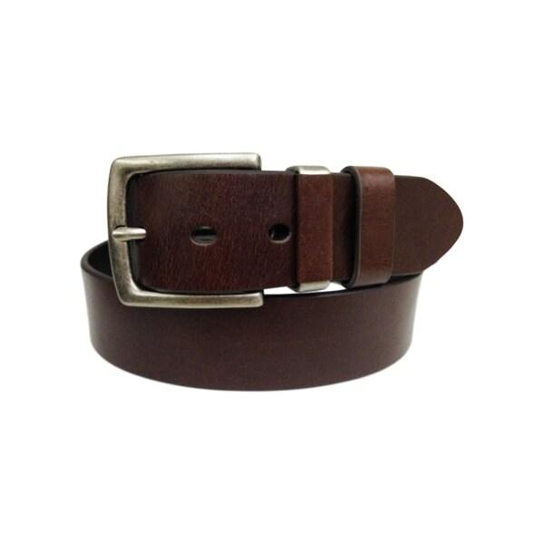 G-BAR-D Western Belt Mens Double Loop Brown