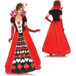 Womens Deluxe Queen of Hearts Halloween Costume
