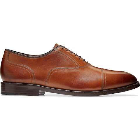 Cole Haan Mens Kneeland Oxfords Leather Lace-Up - British Tan