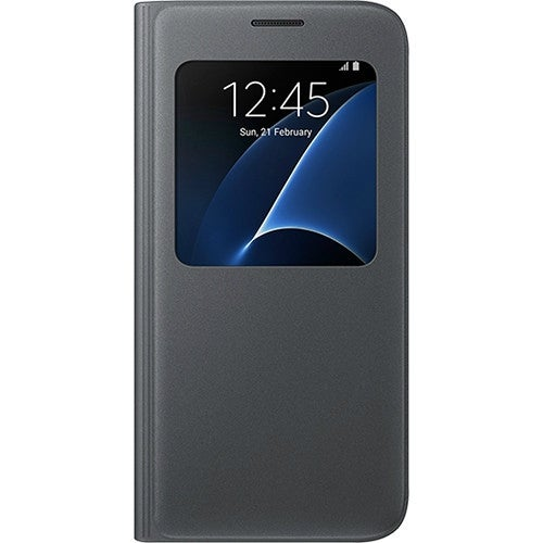 Samsung S-View Flip Cover for Samsung Galaxy S7 - Black S-View Flip Cover