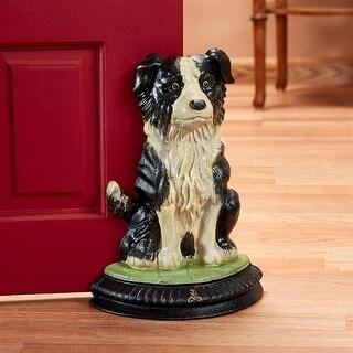 Design Toscano Border Collie Dog Foundry Cast Iron Doorstop Statue