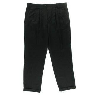 Perry Ellis Mens Cuffed Classic Fit Dress Pants - 34/38