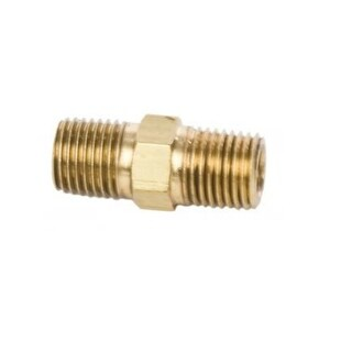 """Forney 75448 Brass Hose Coupling, 1/4"""" x 1/4"""" Male NPT"""