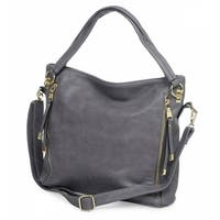 Women's Conceal & Carry Purse - Quick Access Side Pocket Hand Gun Bag - Black Faux Leather - One size