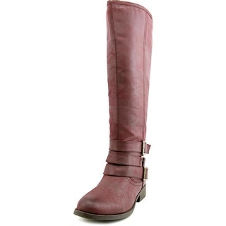 Madden Girl Campusss Women Round Toe Synthetic Knee High Boot