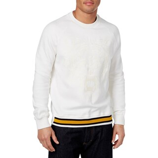 Sean John Mens Big & Tall Pullover Sweater Embroidered Tiger - 3Xl