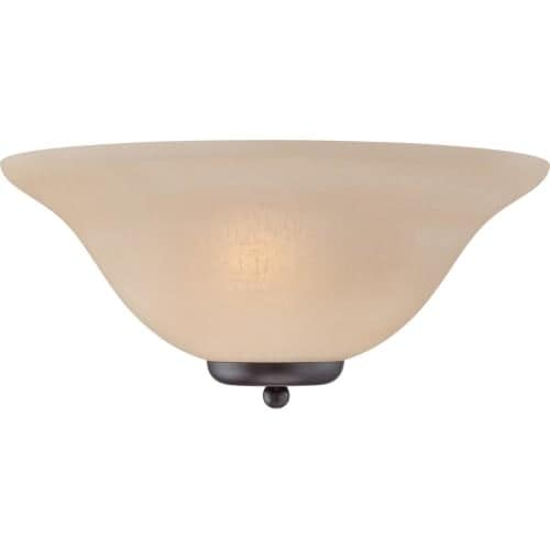 Nuvo Lighting 60/5384 Ballerina 1 Light Wall Washer Wall Sconce with Champagne Linen Shade